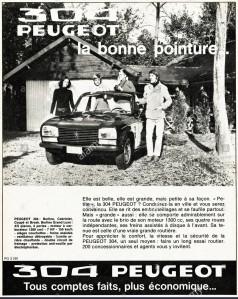 peugeot ad 1970s