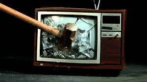 TV set smashed